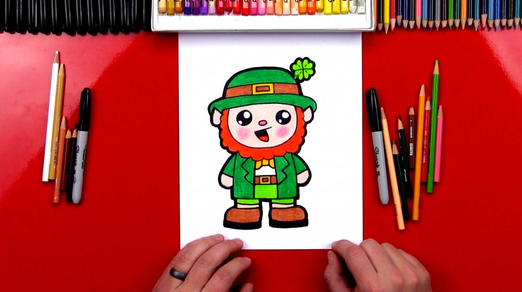 How To Draw A Cartoon Leprechaun