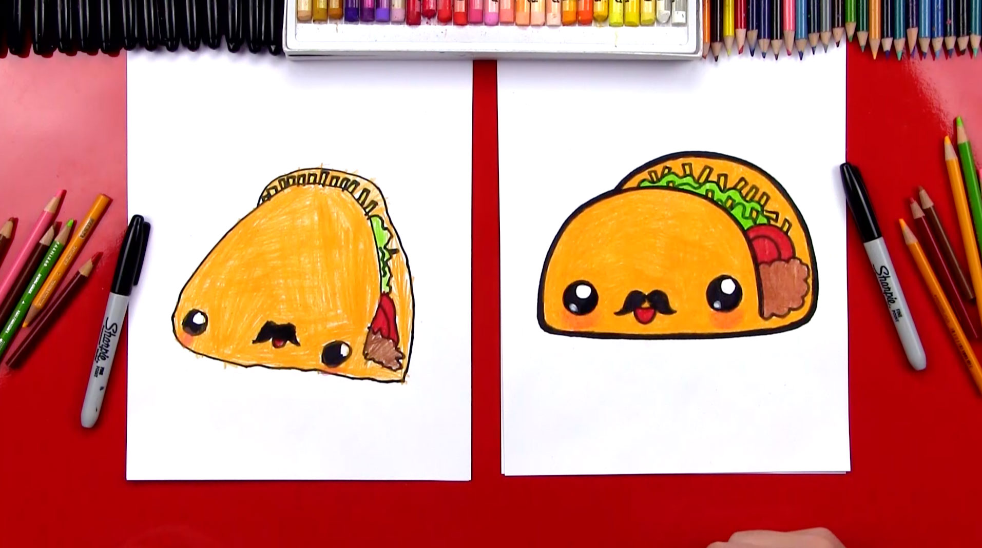 How To Draw A Funny Taco Art For Kids Hub
