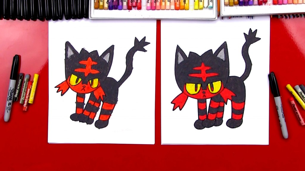 How To Draw Litten Pokemon