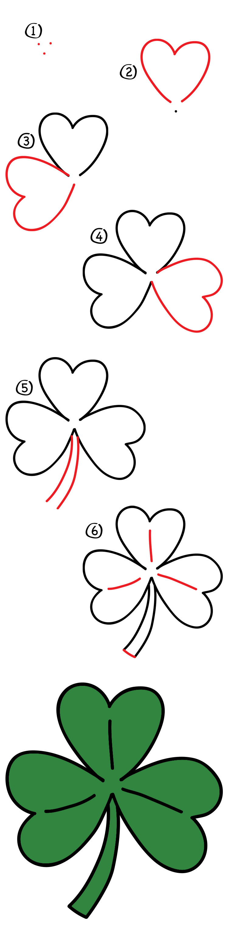 How To Draw A Shamrock Art For Kids Hub