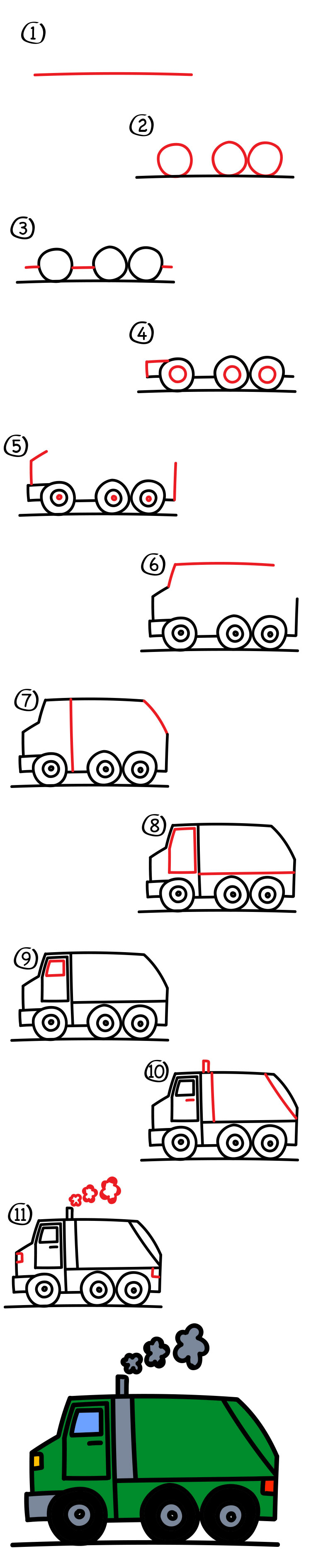 how to draw a track