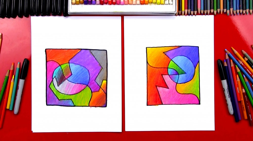 How To Draw Abstract Art With Blending