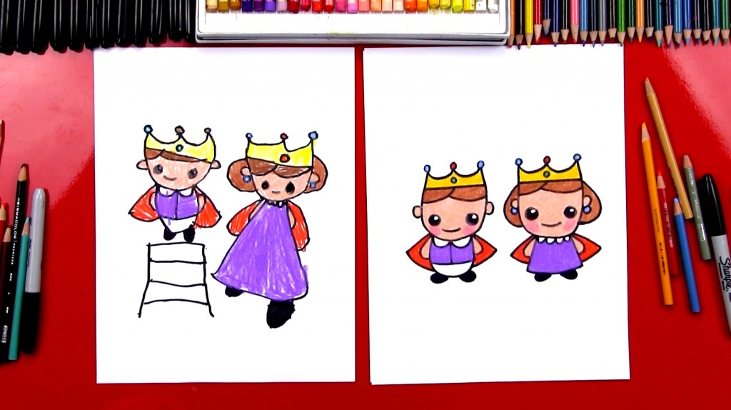 How To Draw A King And Queen