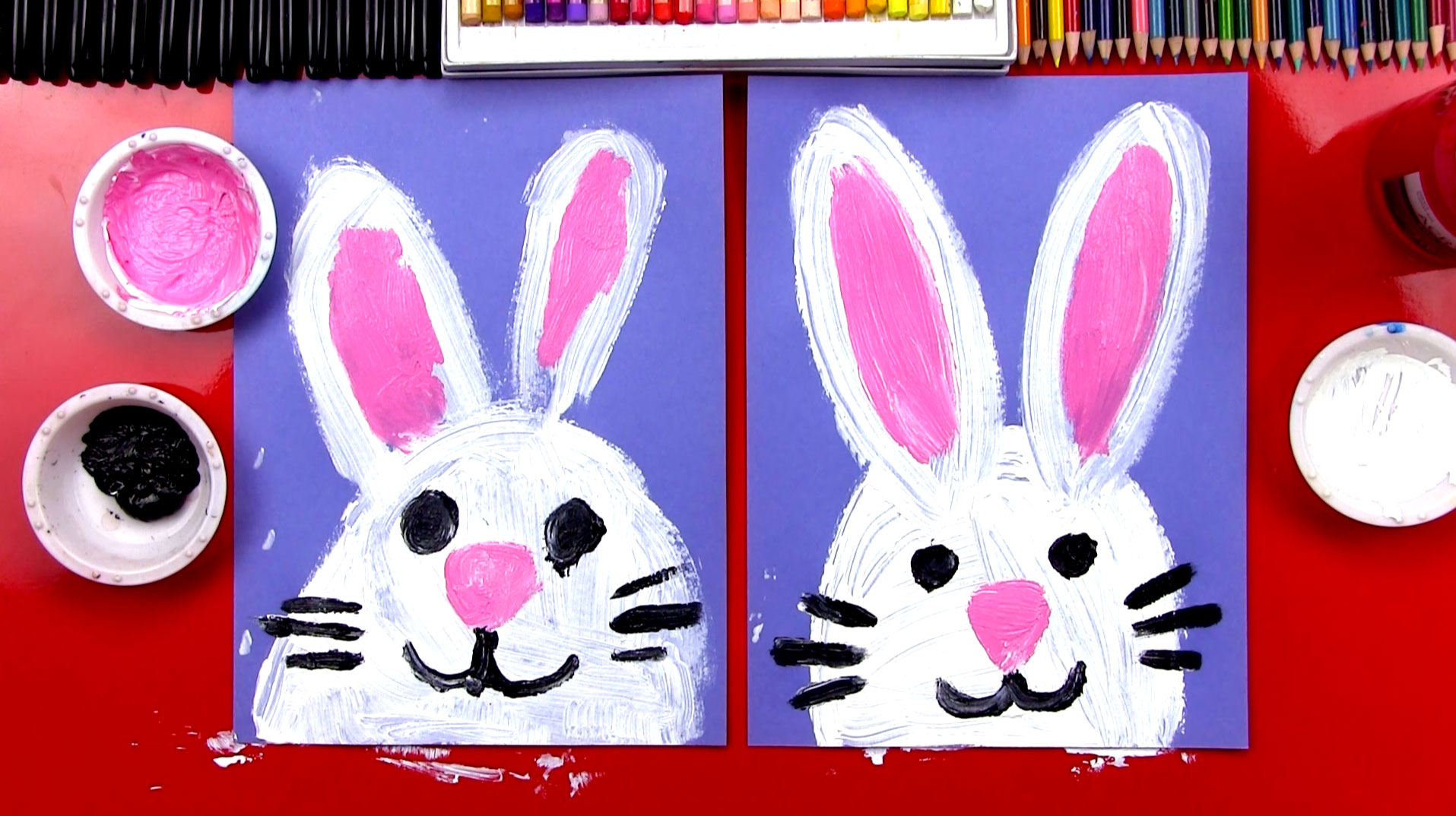 how to paint an easter bunny art for kids hub - Kids Pictures To Paint