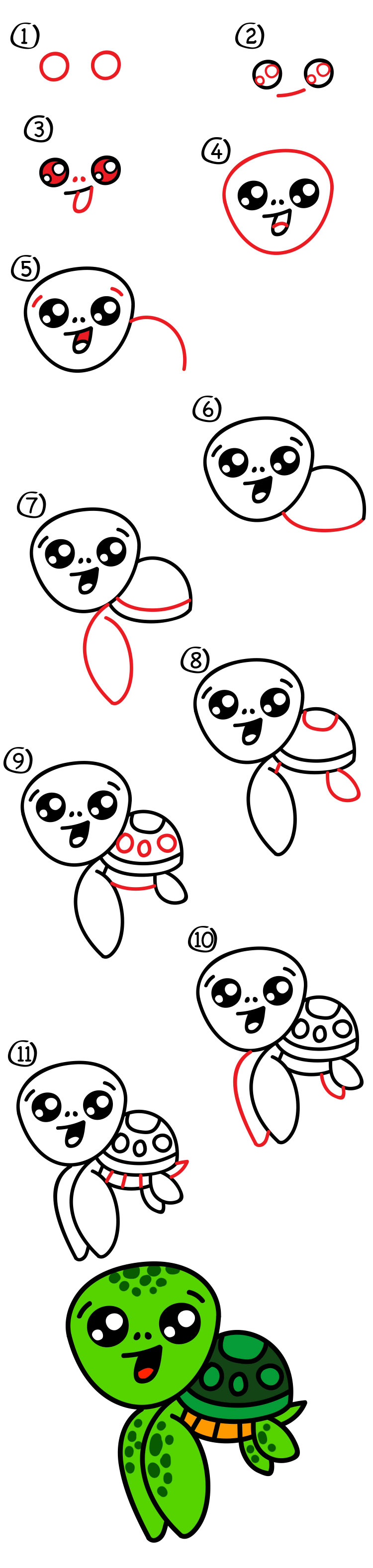 It's just an image of Effortless Turtle Cartoon Drawing