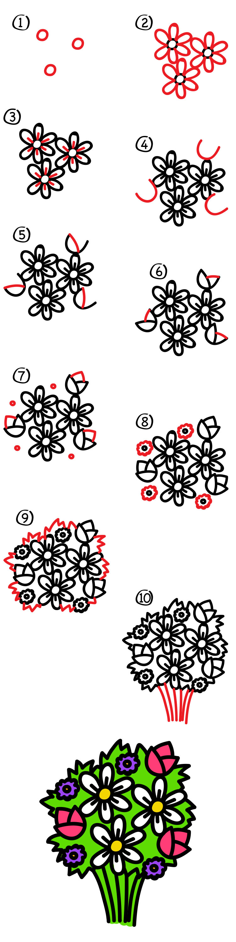 Learn How To Draw How To Draw A Flower Easy For Kids