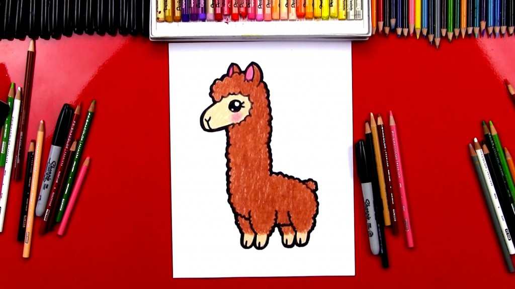 How To Draw A Cartoon Llama