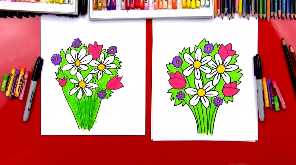 How To Draw A Flower Basket With Flowers : How to draw archives art for kids hub