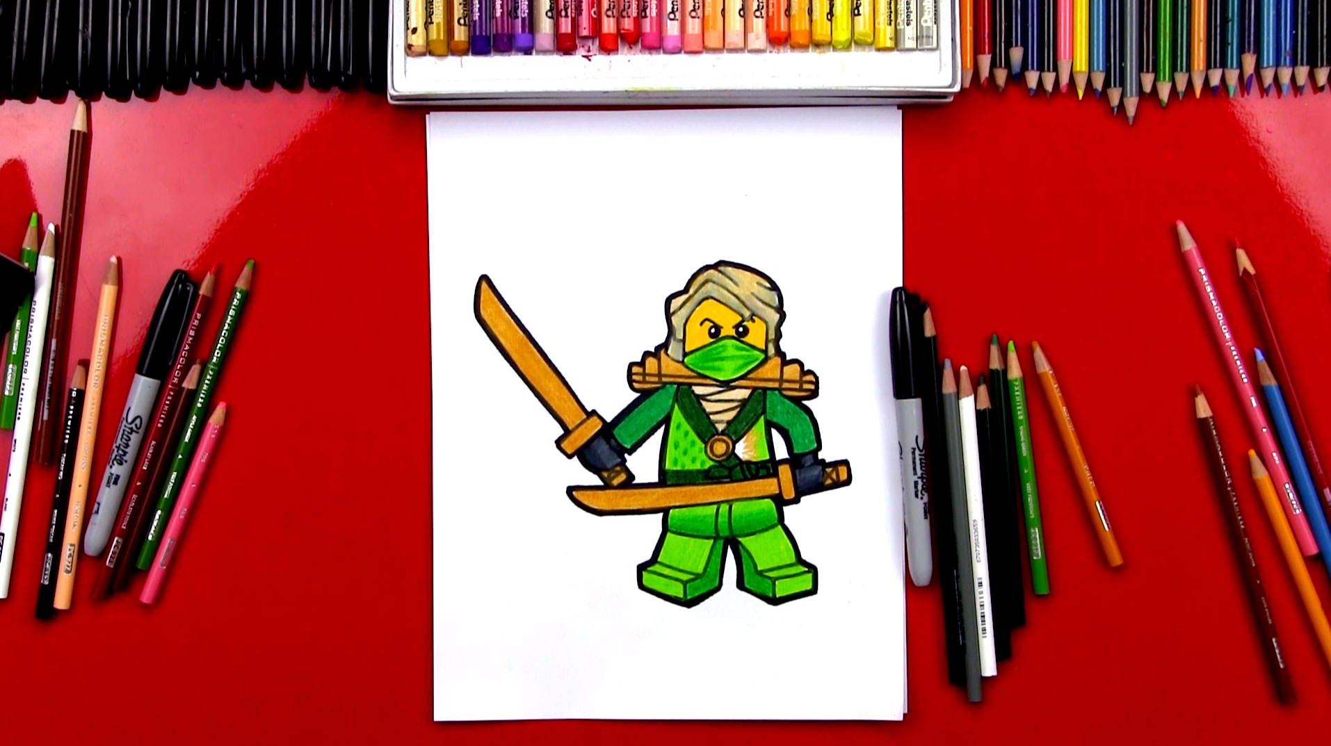 How To Draw Lloyd From Ninjago Art For Kids Hub