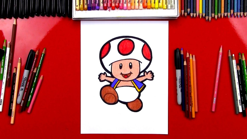 How To Draw Toad From Mario With Body