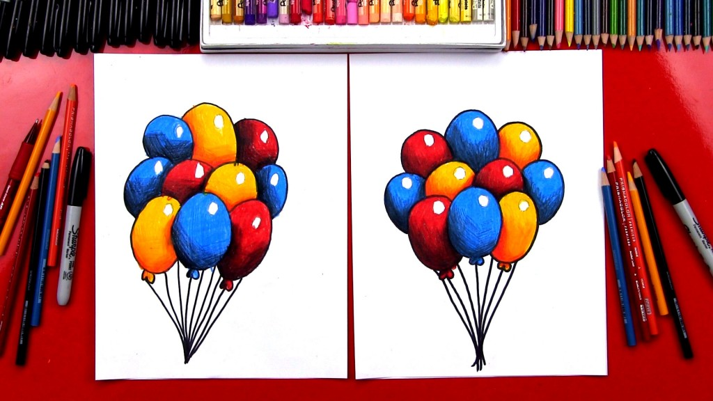Overlapping And Shading Balloons
