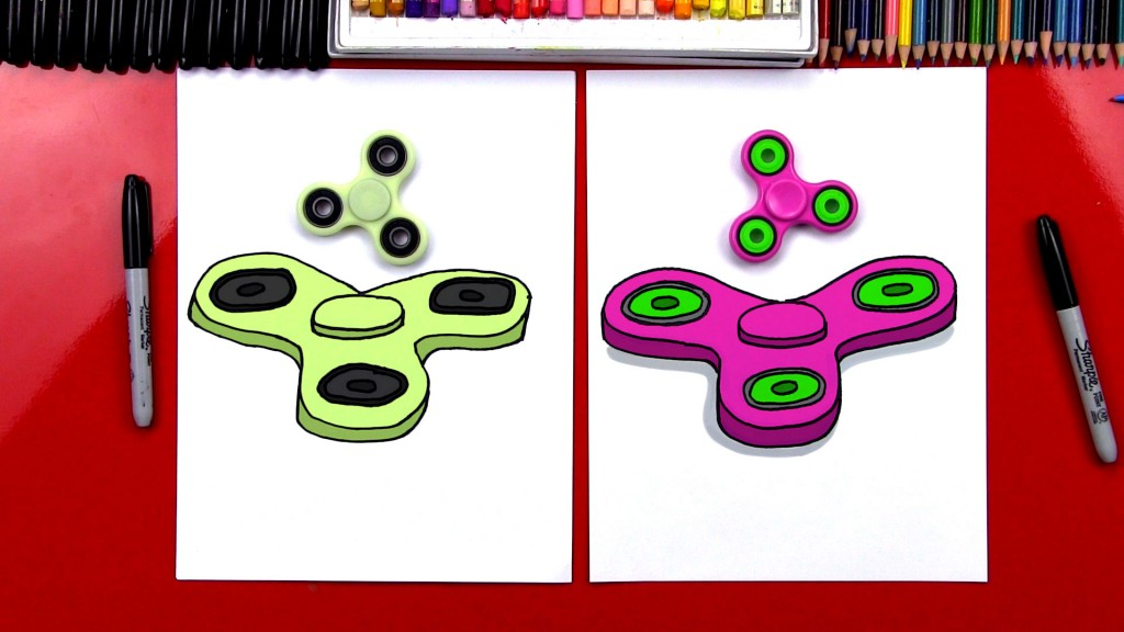 How To Draw A Fidget Spinner