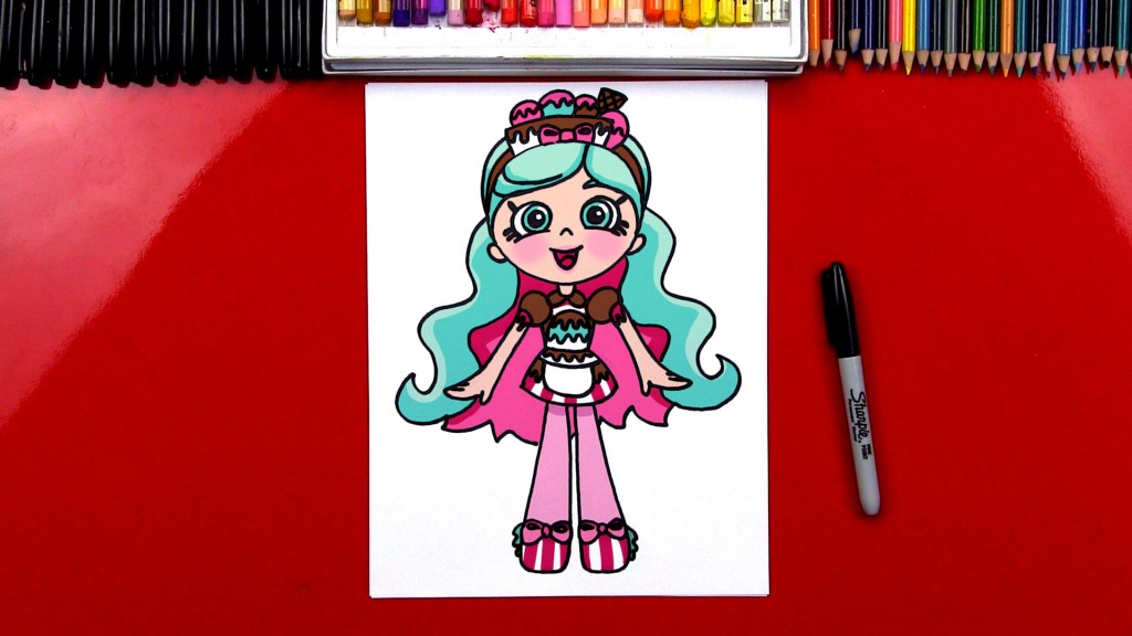 How To Draw Shopkins Shoppies Peppa-mint