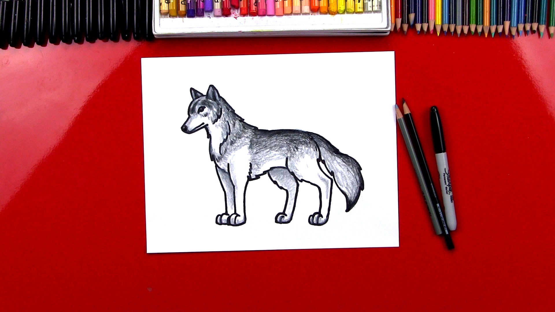 How To Draw A Realistic Wolf Art For Kids Hub