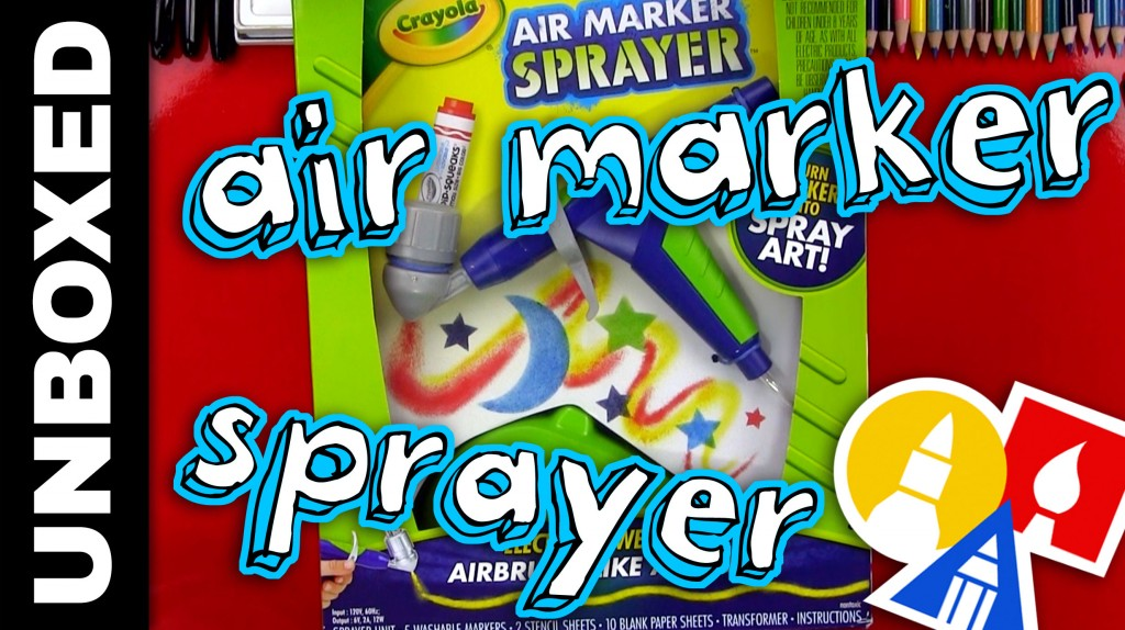 Unboxed Review – Crayola Air Marker Sprayer + June Mail Time
