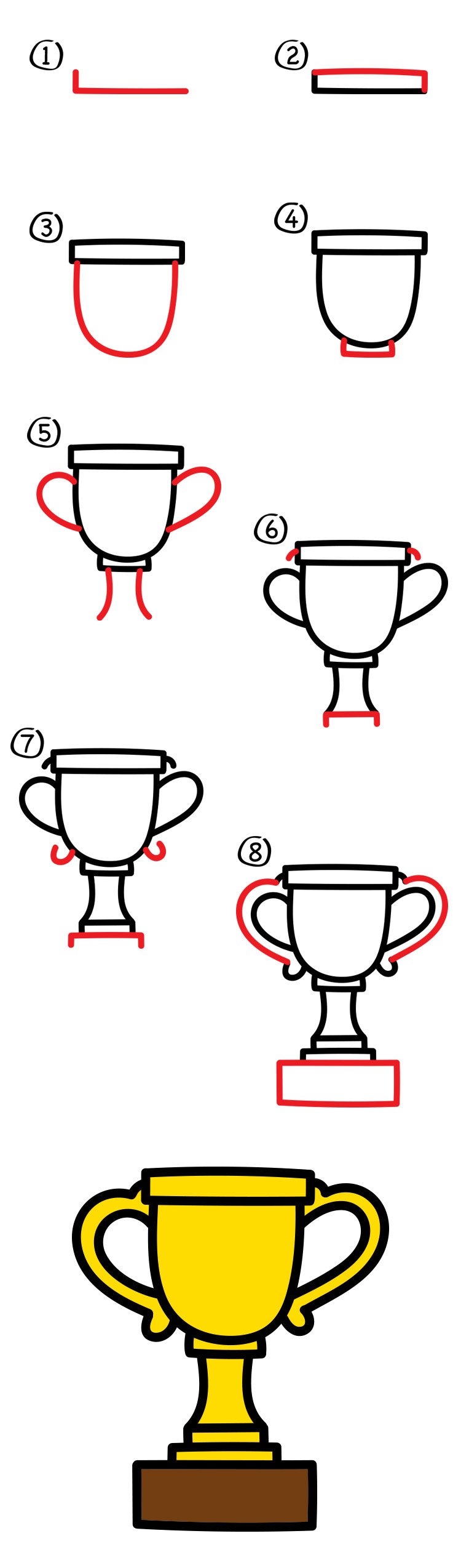 How to draw a trophy for fathers day art for kids hub thecheapjerseys Choice Image