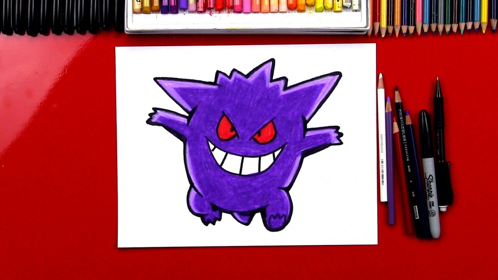 How To Draw Gengar Pokemon
