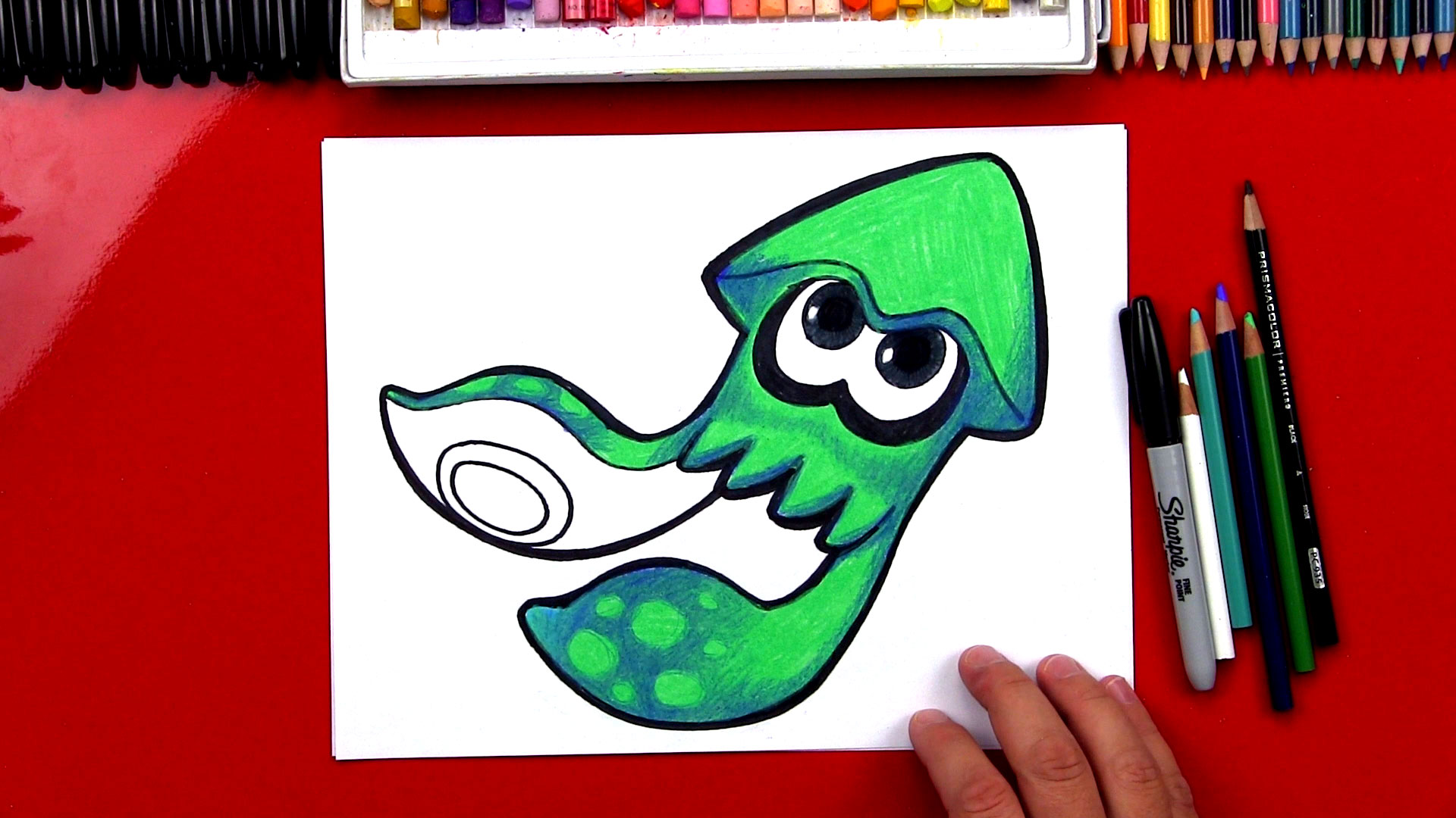 How To Draw Splatoon Inkling Squid