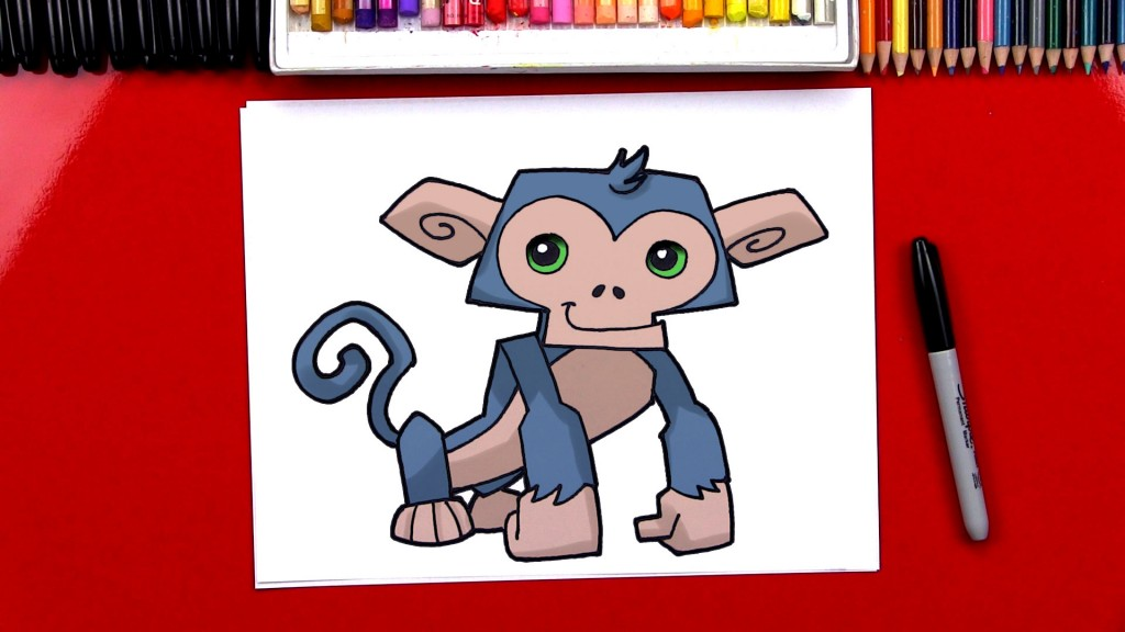 How To Draw Animal Jam Monkey