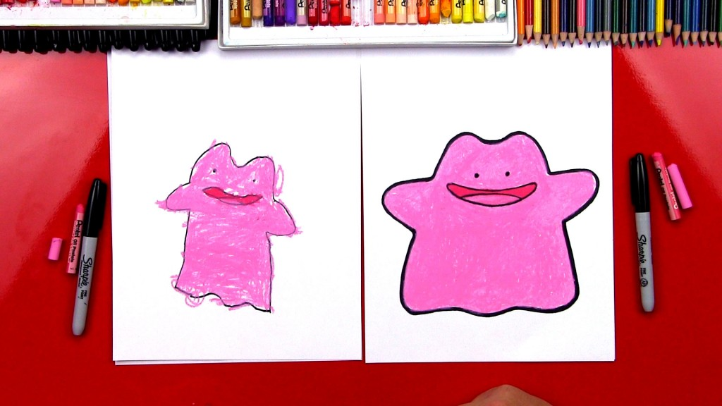 How To Draw Ditto Pokemon