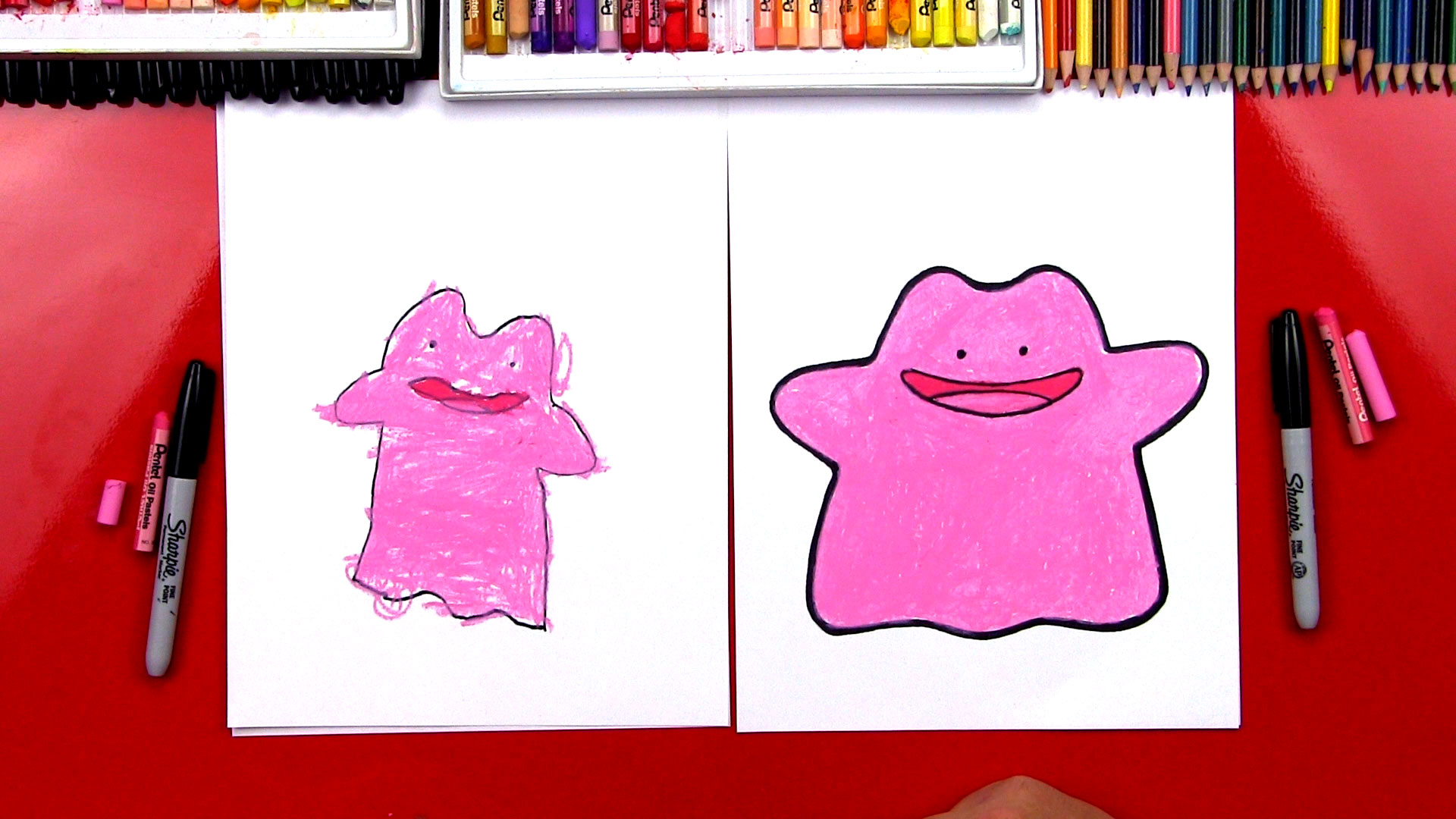 How To Draw Ditto Pokemon Art For Kids Hub