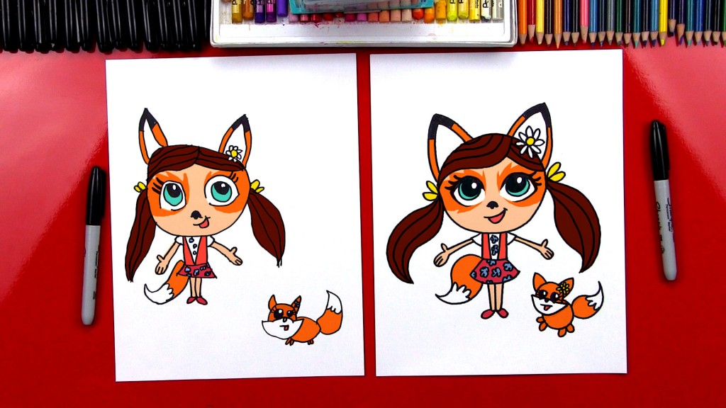 How To Draw Enchantimals Felicity Fox