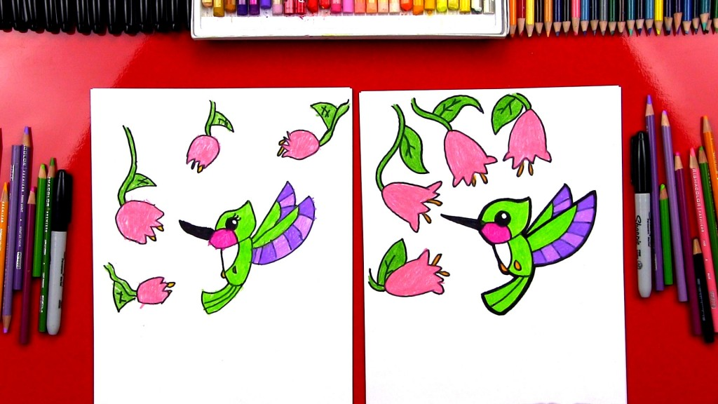 How To Draw A Cute Hummingbird