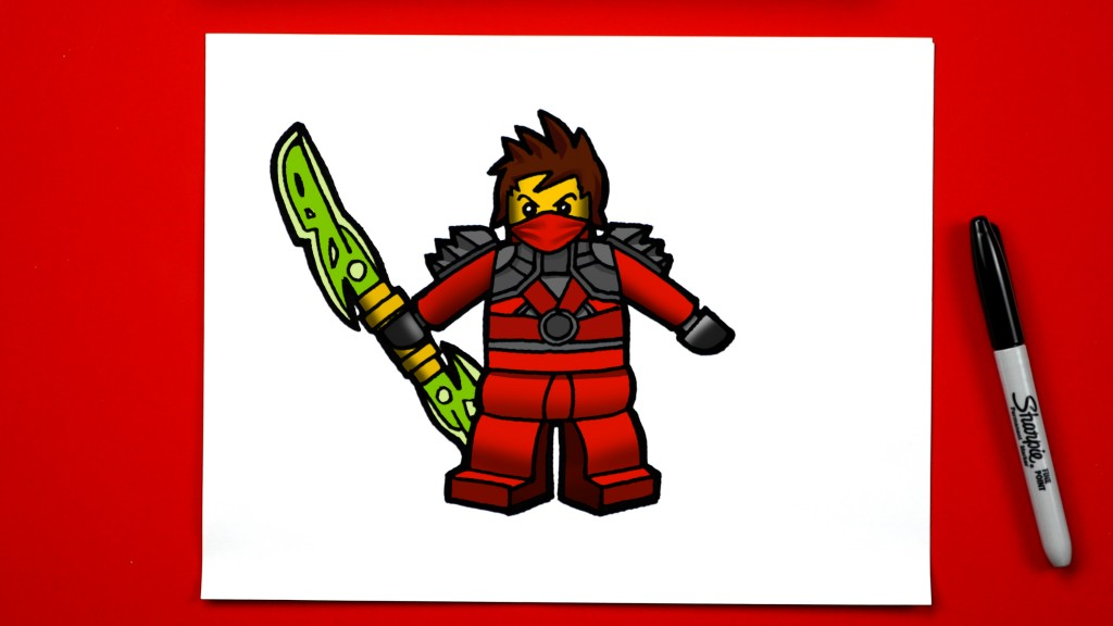 How To Draw Kai From Ninjago