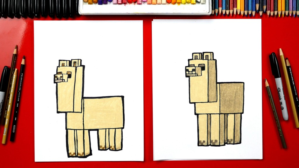 How To Draw A Minecraft Llama