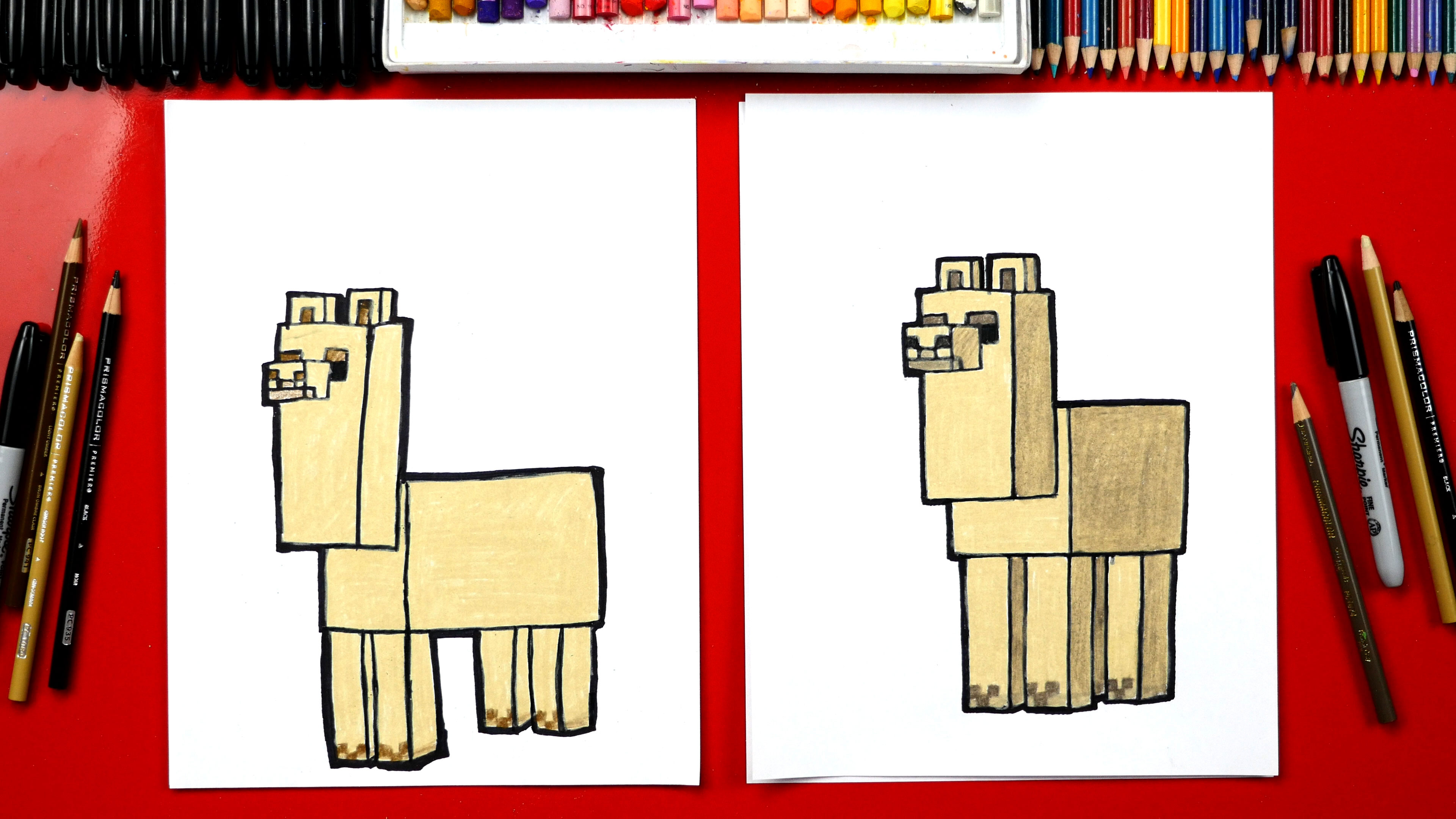 How To Draw A Minecraft Llama Art For Kids Hub