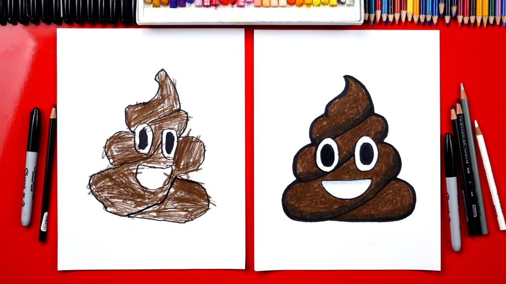 How To Draw Poop Emoji