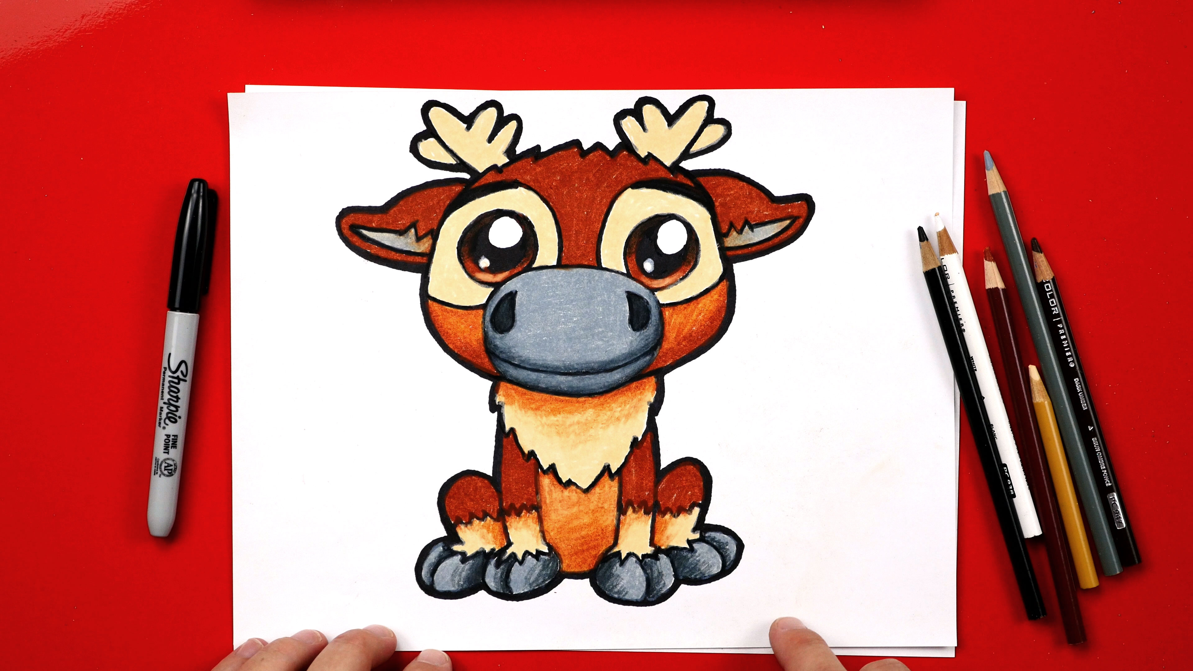 how to draw sven from frozen art for kids hub