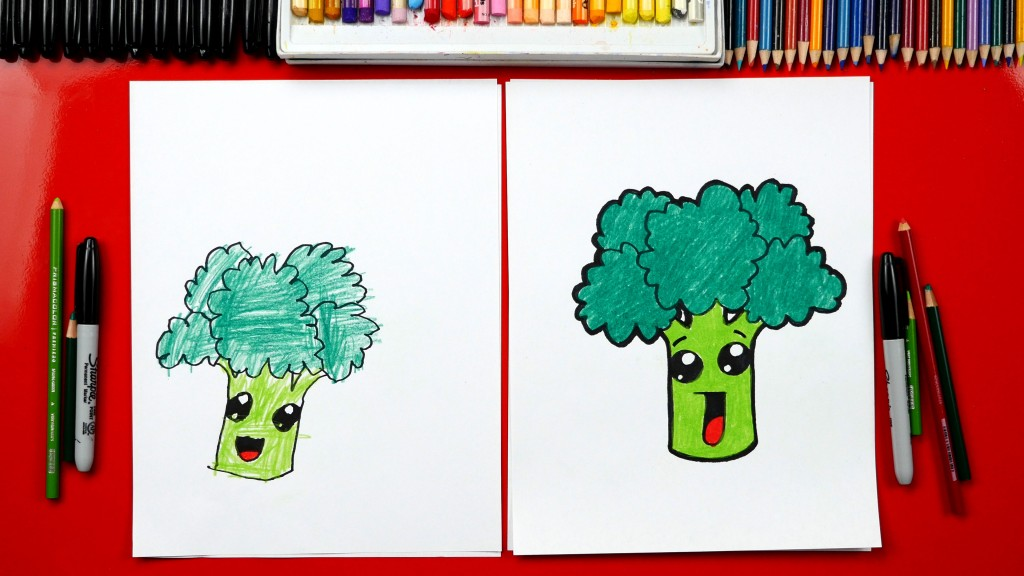 How To Draw Funny Broccoli