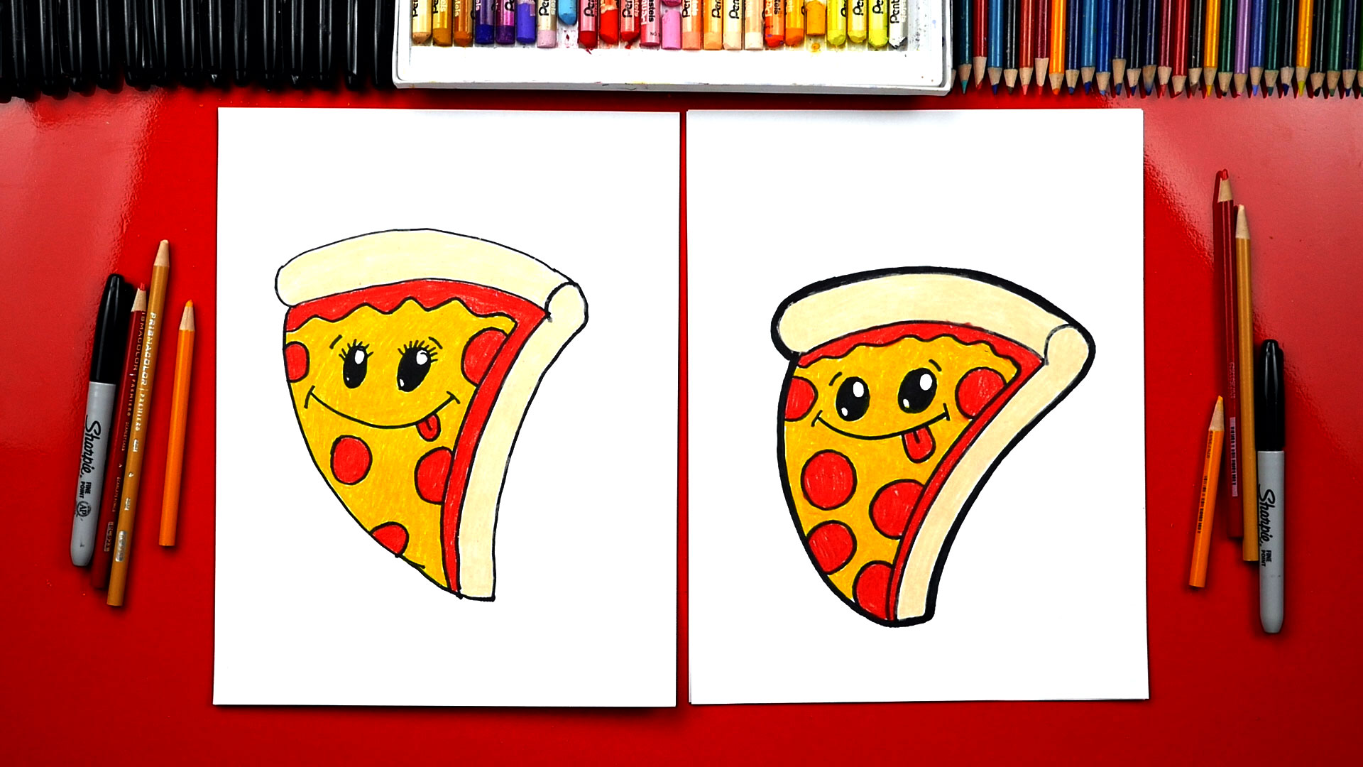 How to draw a funny pizza artist spotlight
