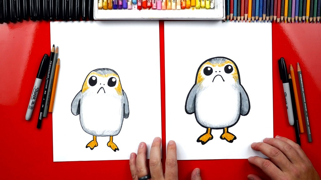 How To Draw A Porg From Star Wars + Artist Spotlight