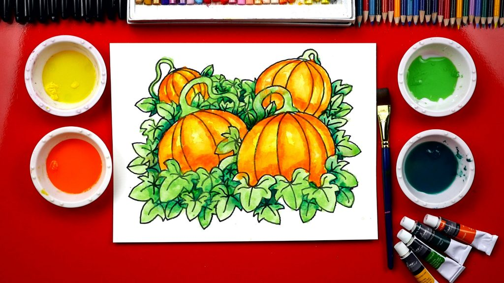 How To Paint A Pumpkin Patch