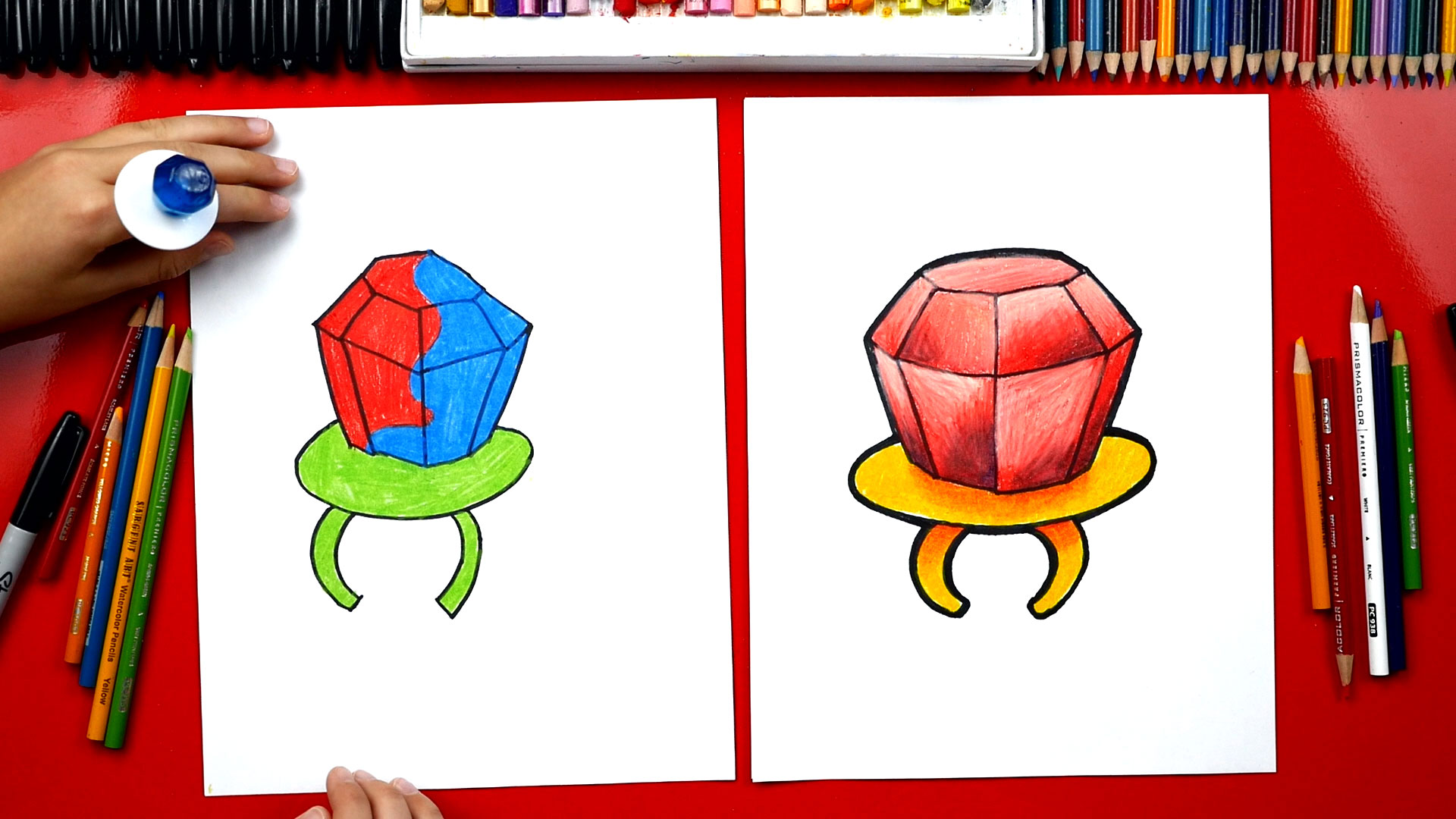 How To Draw A Ring Pop Art For Kids Hub