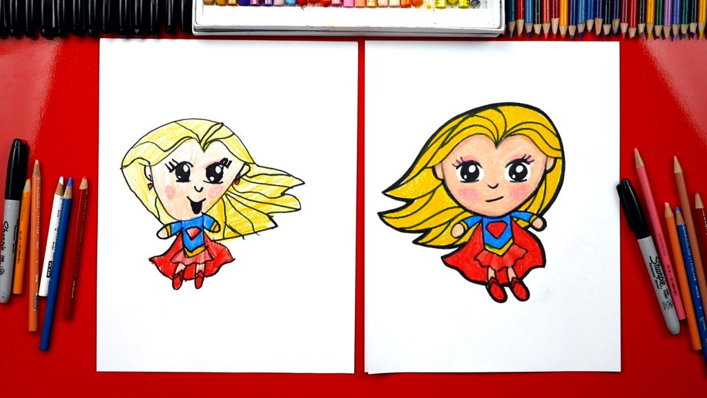How To Draw Supergirl + SYA