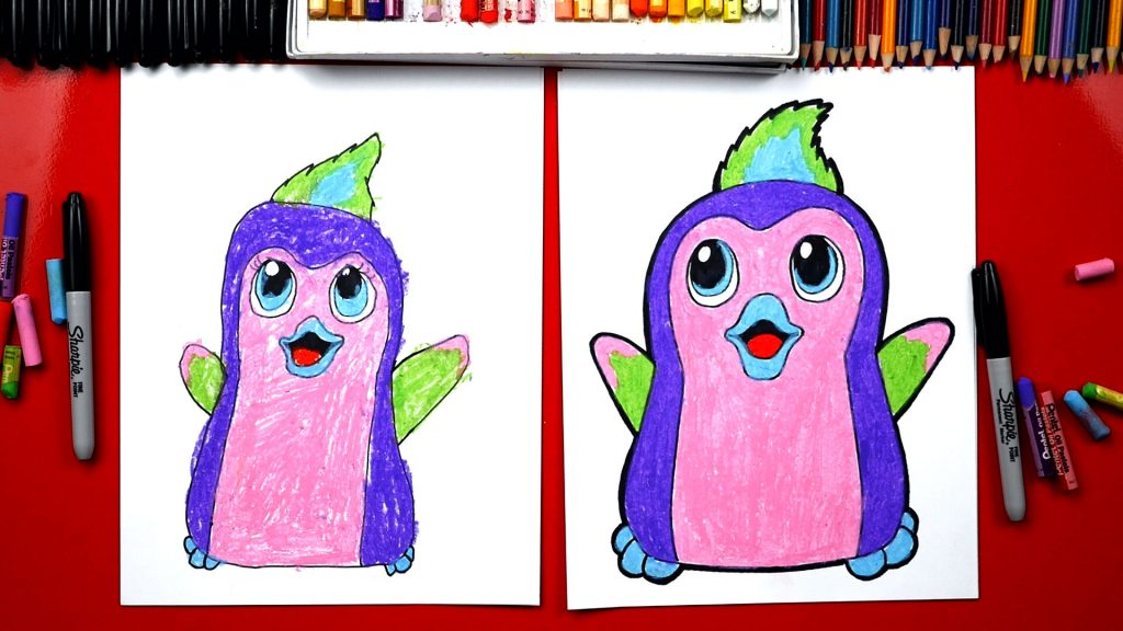 How To Draw Hatchimals Penguala Plus We Hatch A Real One!
