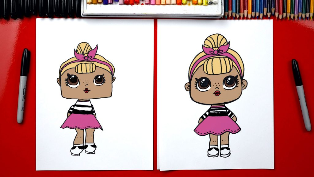 How To Draw An L.O.L. Surprise Doll