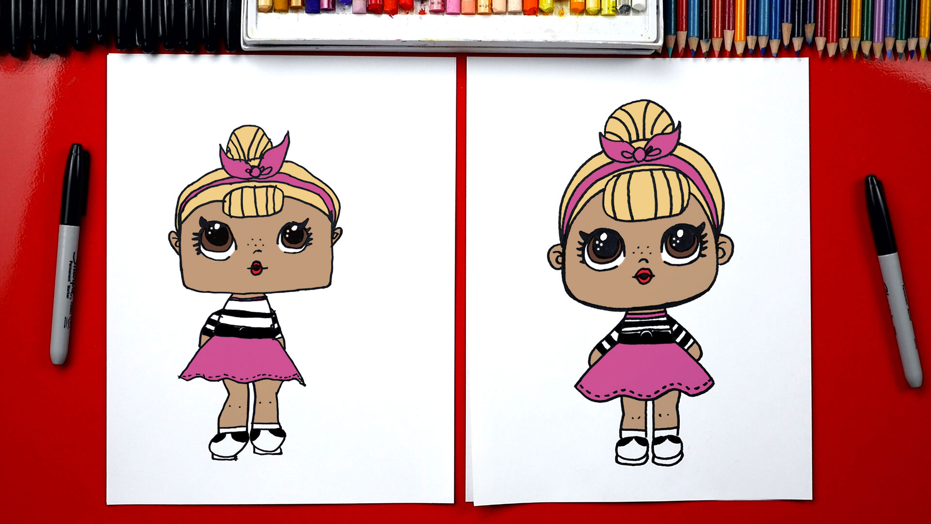 How To Draw An L O L Surprise Doll Art For Kids Hub