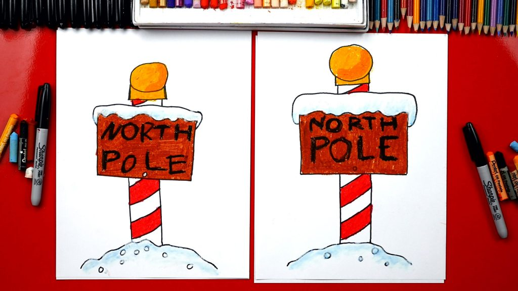 How To Draw The North Pole Sign
