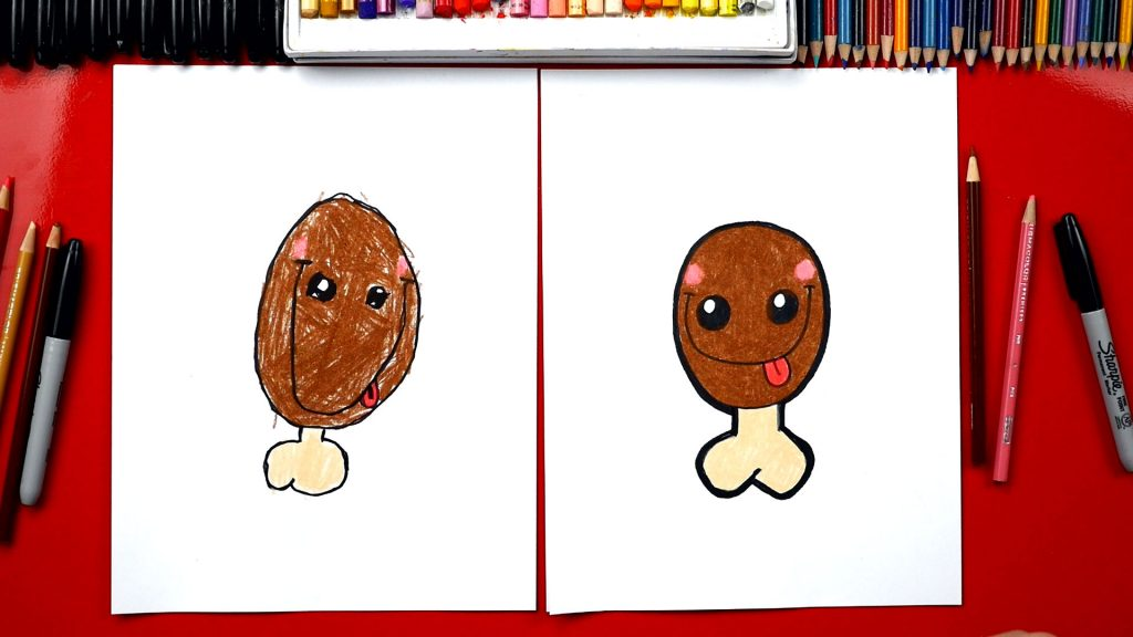 How To Draw A Funny Thanksgiving Turkey Leg