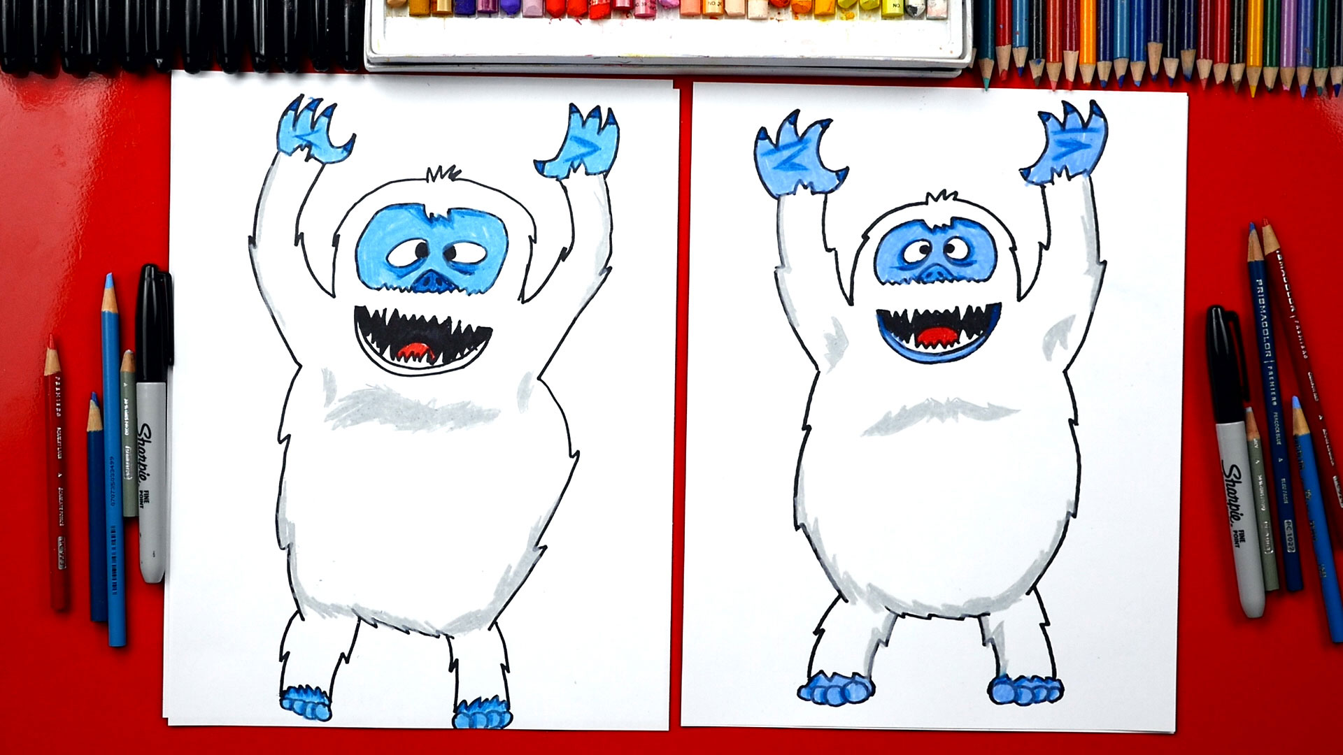 How To Draw A Bumble Abominable Snowman Art For Kids Hub