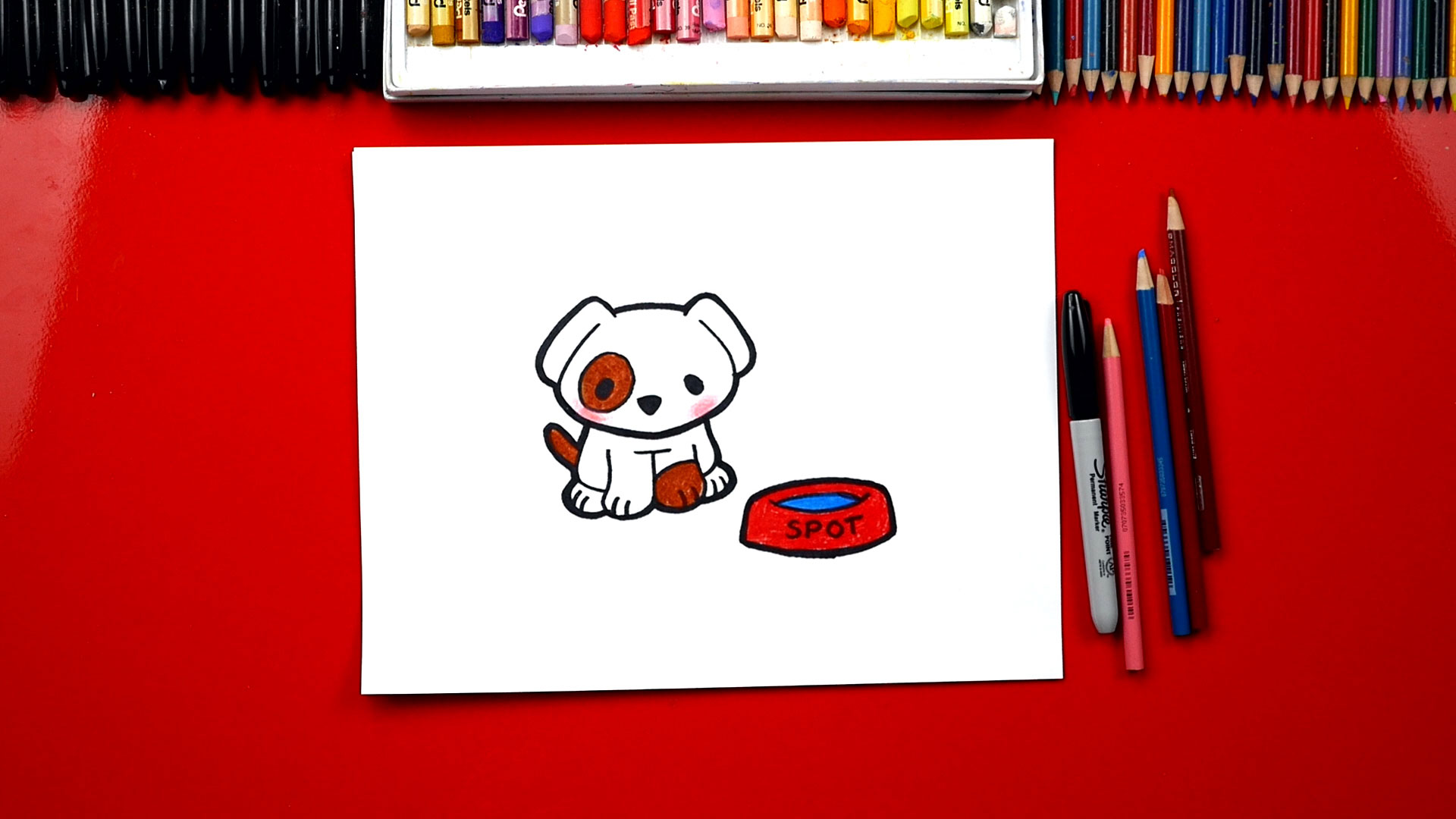 How To Draw The Cutest Puppy Art For Kids Hub