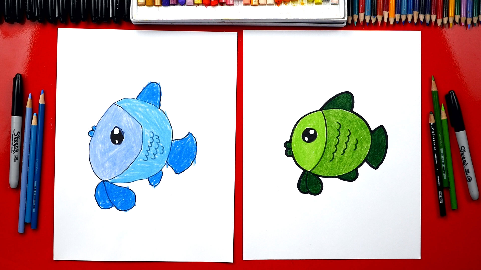 How to draw a cartoon fish