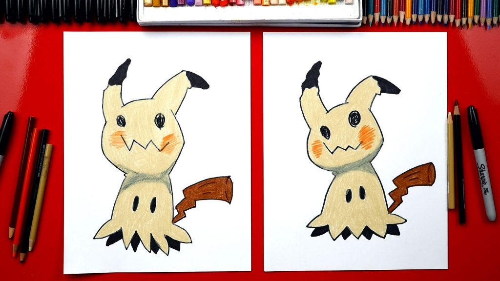 How To Draw Mimikyu + Pokemon Unwrap Battle!