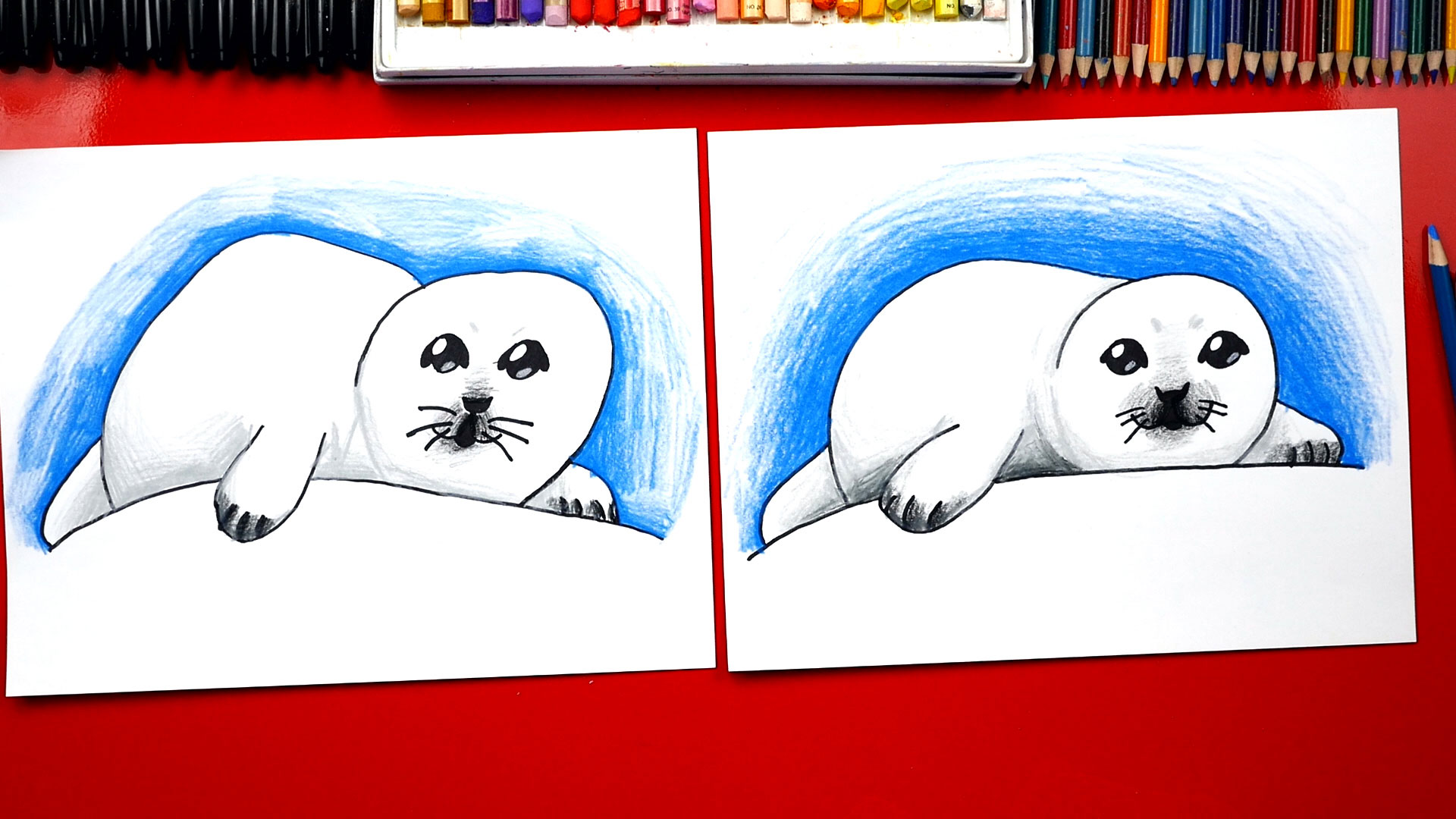 How To Draw A Baby Seal Art For Kids Hub