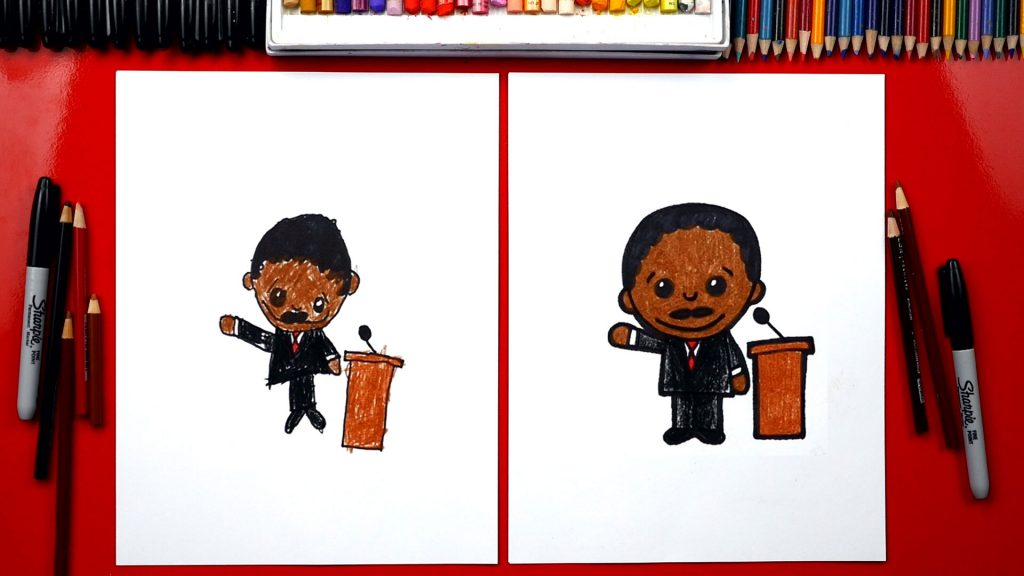 How To Draw Cartoon Martin Luther King Jr.