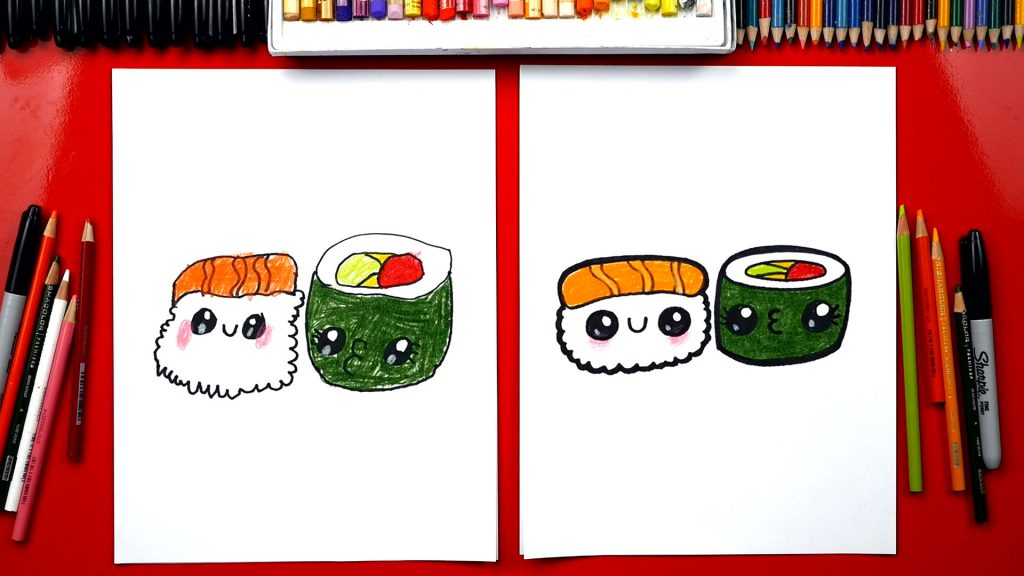 How To Draw Cartoon Sushi